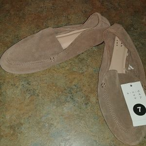 NWT A New Day Mila Soft Suede Leather Loafers